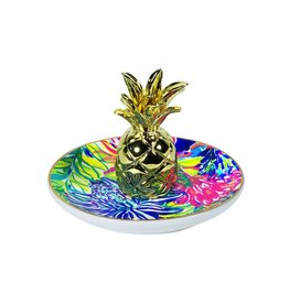 Lilly Pulitzer® Ring Holder Dish w Travelers Palm Lilly Pulitzer