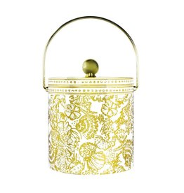 Lilly Pulitzer® Ice Bucket Sea Life Gold and White