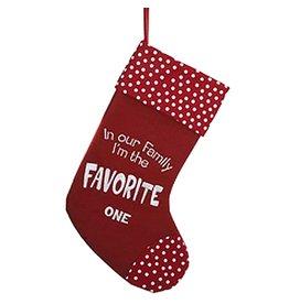 Kurt Adler Christmas Stocking Felt Family Favorite One Stocking C9754-B
