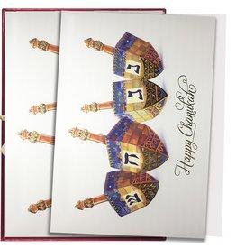 Papyrus Greetings Boxed Chanukah Cards Happy Chanukah Dreidels 14pk