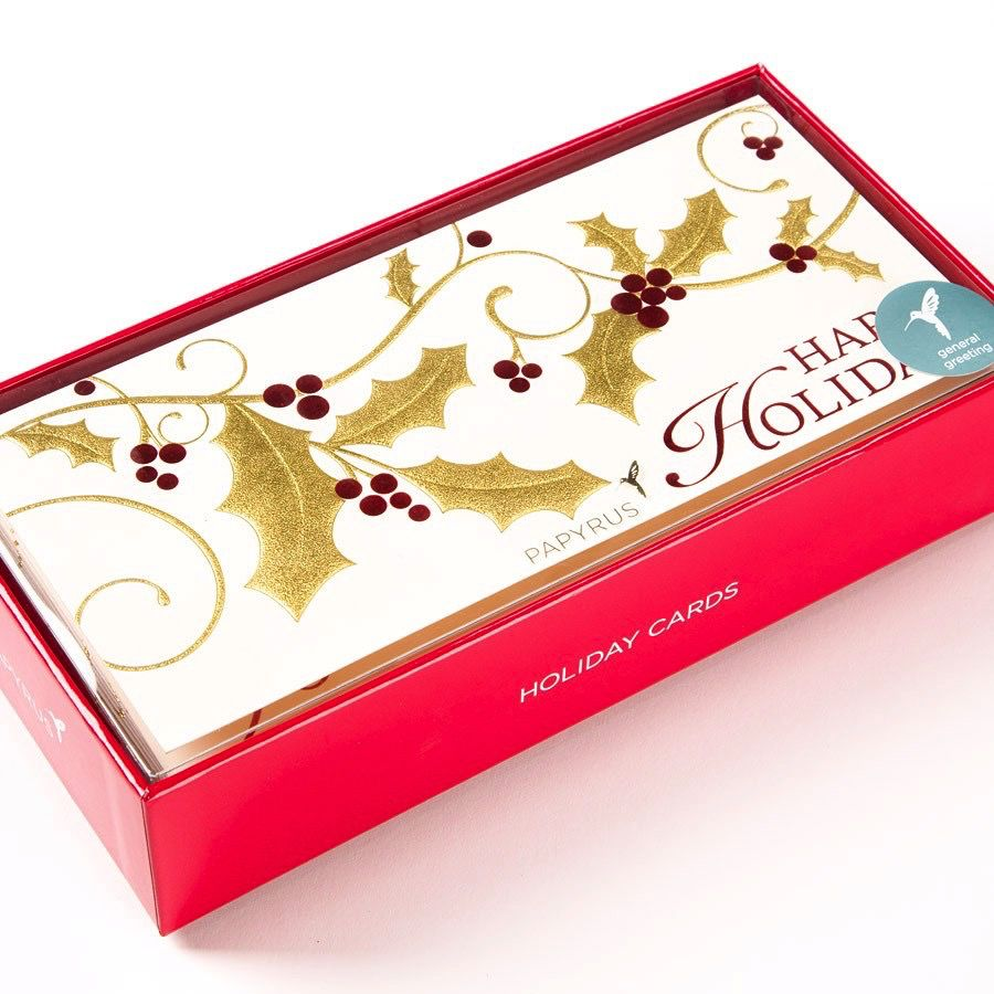 Papyrus Greetings Boxed Christmas Cards Alegro Tossed Ornaments 16pk ...