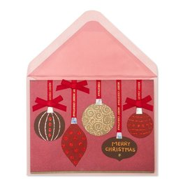 Papyrus Greetings Christmas Card Red and Chocolate Hanging Ornaments