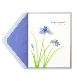 Papyrus Greetings Sympathy Card Purple Irises by Papyrus