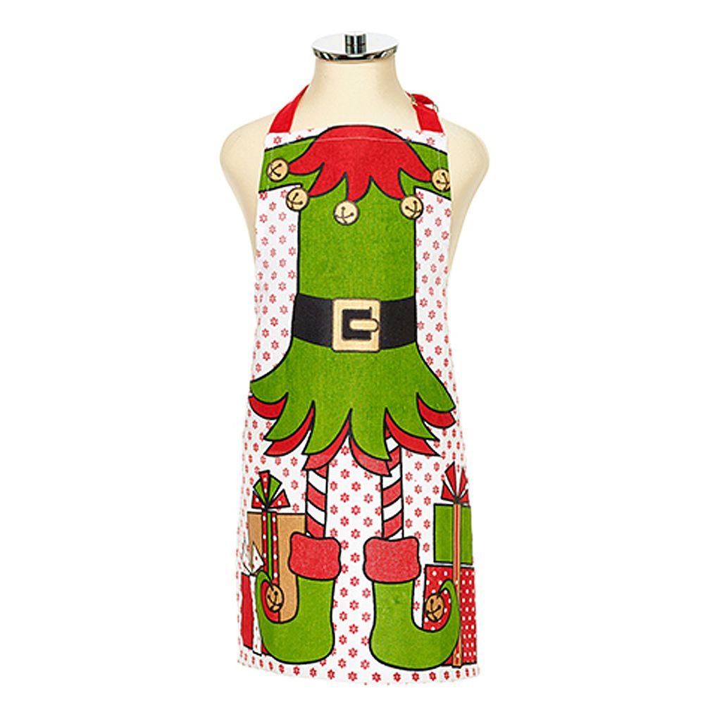 harman christmas apron kids holiday elf character apron - Christmas Apron