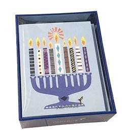 Papyrus Greetings Boxed Chanukah Cards Happy Modern Menorah 20pk