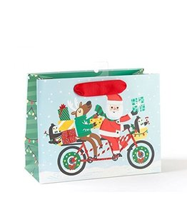 Papyrus Christmas Gift Bag Medium 9x7x4 Traveling Santa