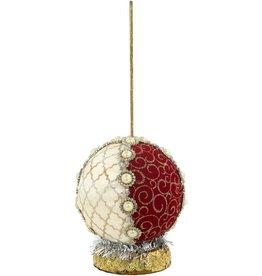 Mark Roberts Fairies Stands Ornamental Ball 7 inch Cream-Burg