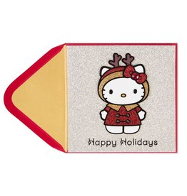 Papyrus Greetings Christmas Card Hello Kitty Reindeer