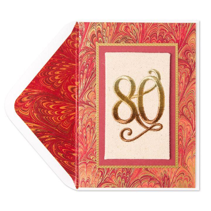 Papyrus Greetings Birthday Card 80th