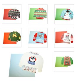 DM Merchandising Ugly Sweater Musical Christmas Card Gift Card Holder