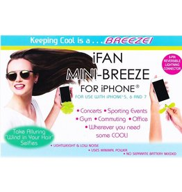 DM Merchandising Mini Breeze iFan for iPhone Mini Smartphone Fan