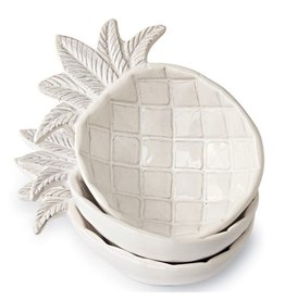 Mud Pie Stacked Pineapple Dip Bowls 3PC Set
