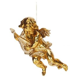 Mark Roberts Christmas Decorations Cherub Ornament w Music Instrument
