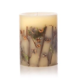 Rosy Rings Forest Botanical Candle Pillar 4.5x5.5H Round