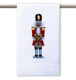 Peking Handicraft Christmas Hand-Guest Towel Nutcracker w Gift 14x22