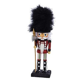 Kurt Adler Hollywood Nutcracker Black Fur Hat Nutcracker 12H
