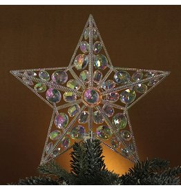 Kurt Adler Christmas Tree Topper Jeweled Star Topper 12.5