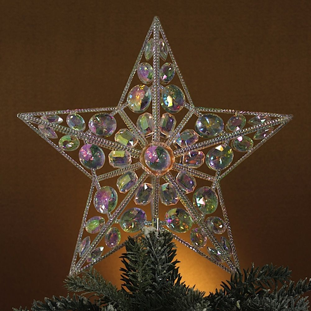 Kurt Adler Christmas Tree Topper Jeweled Star Topper 12.5 - Digs N Gifts