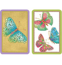 Caspari Playing Cards 2 Decks of Butterfly Bridge Cards