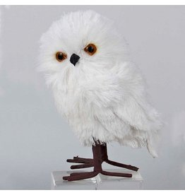 Kurt Adler White Owl Bird Christmas Ornament 5 inch -B