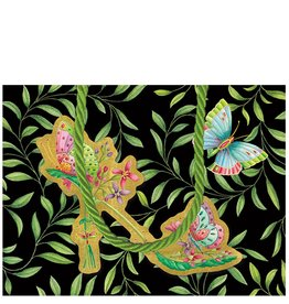 Caspari Gift Bag Parveneh Butterfly Shoes Paper Gift Bag Sm
