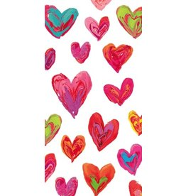 Caspari Paper Facial Tissues Happy Hearts Hankies 10pk