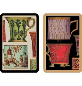 Caspari Playing Cards Bridge Cards 2 Decks - Salon De The-Tea Cups