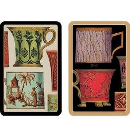 Caspari Playing Cards Bridge Cards 2 Decks - Tea Cups