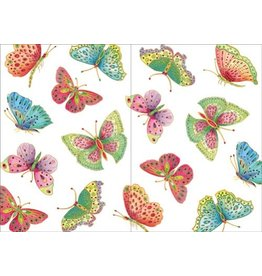 Caspari Birthday Card Jeweled Butterflies
