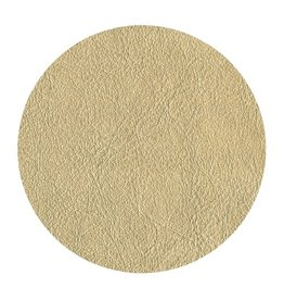 Caspari Round Coasters Felt Backed 8pk w Leather Design - Gold