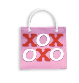 DM Merchandising Valentine's Gift Bag Tote Hugs n Kisses Tote Bag