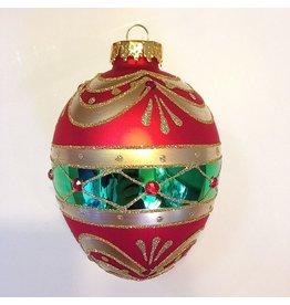 Kurt Adler Glass Jeweled Egg Christmas Ornament GG0243-E