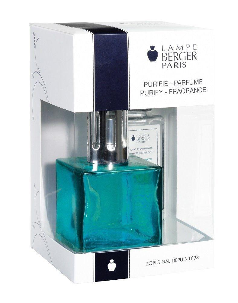 Lampe Berger Fragrance Lamp Cube Gift Box Set 113705 Turquoise