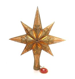 Christopher Radko Christmas Tree Topper - Champagne Stellar Finial
