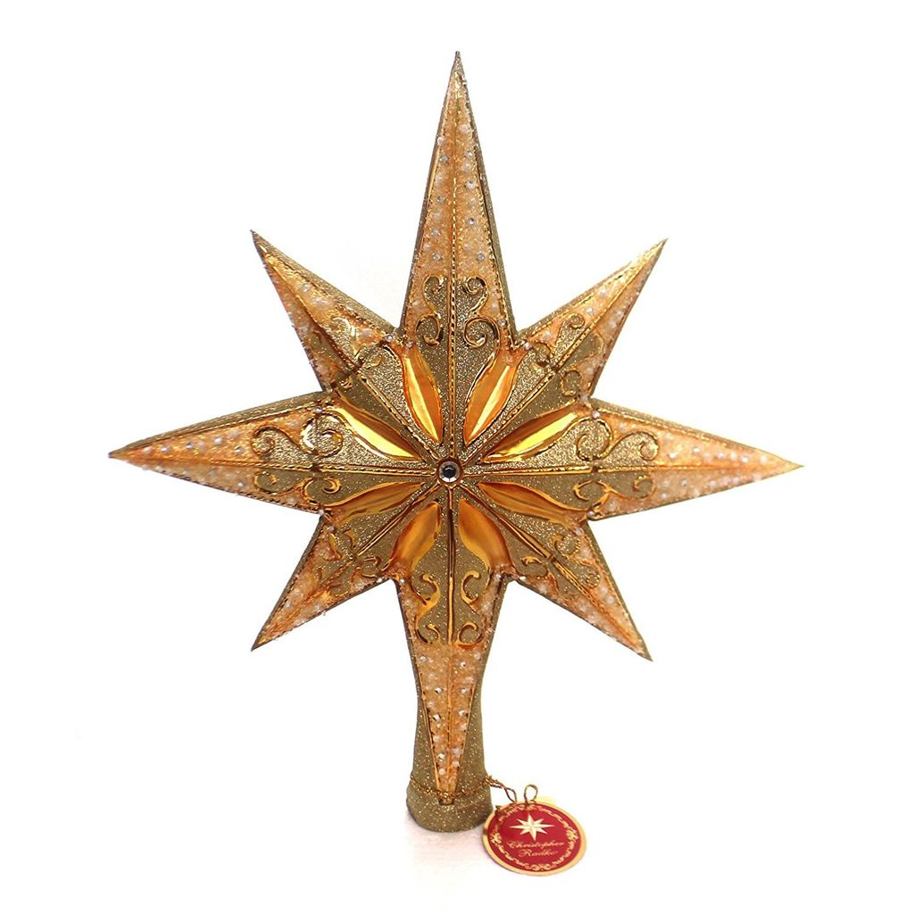 christopher radko christmas tree topper champagne stellar finial