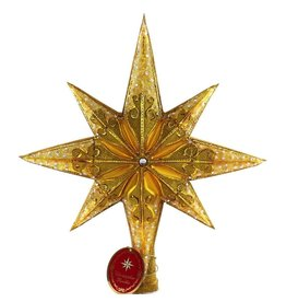 Christopher Radko Christmas Tree Topper Golden Radiance Star Finial
