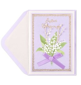 Papyrus Greetings Easter Card Lily of the Valley Easter Blessings
