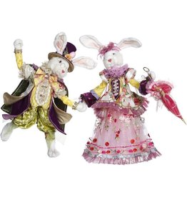 Mark Roberts Fairies Bunnies Mr and Mrs Easter Bunny Rabbit Couple MD 24 inch 51-85262