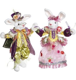 Mark Roberts Fairies Bunnies Mr and Mrs Easter Bunny Rabbit Couple SM 12 inch 51-85260