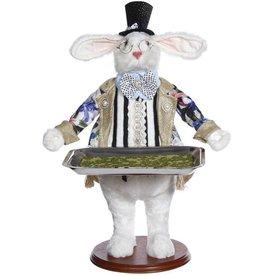 Mark Roberts Fairies Bunnies Butler Bunny With Tray 19 inch B-DTS