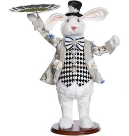 Mark Roberts Fairies Bunnies Butler Bunny With Tray 19 inch