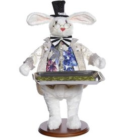 Mark Roberts Fairies Bunnies Butler Bunny With Tray 19 inch A-STR