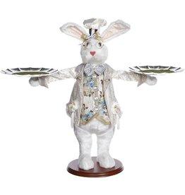 Mark Roberts Fairies Bunnies Butler Bunny With 2 Trays 20 inch