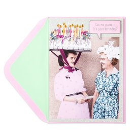 Papyrus Greetings Birthday Card Cake Hat Lady