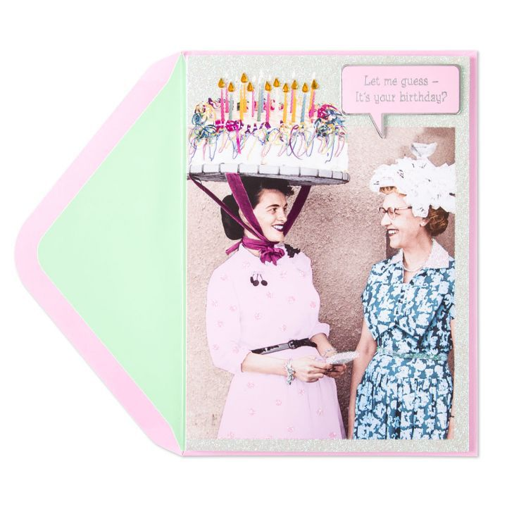 Papyrus Greetings Birthday Card Cake Hat Lady Digs N Gifts