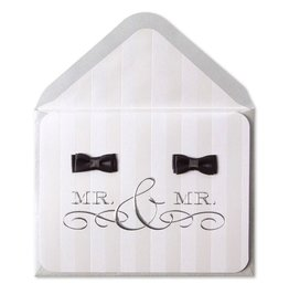 Papyrus Greetings Wedding Card Gay Wedding Mr and Mr Groom Bow Ties
