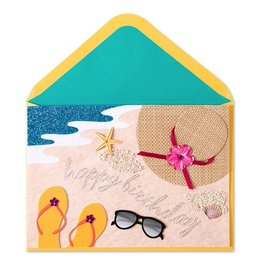 Papyrus Greetings Birthday Card Beach Scene