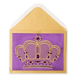 Papyrus Greetings Birthday Card Couture Embroidered and Jeweled Crown