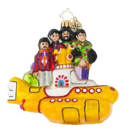 Christopher Radko Ornament Beatles All Together Now on Yellow Submarine