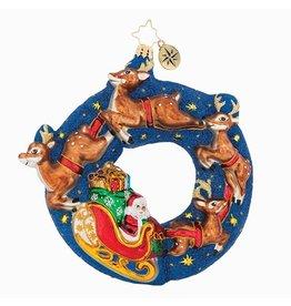 Christopher Radko Christmas Ornament Santa's Midngiht Ride